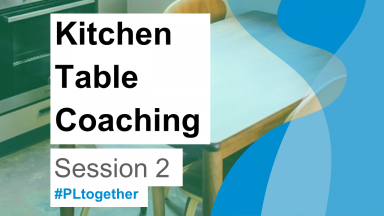 kitchen table background with foreground text saying kitchen table coaching