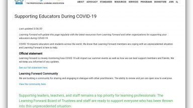 screenshot of learning forward site