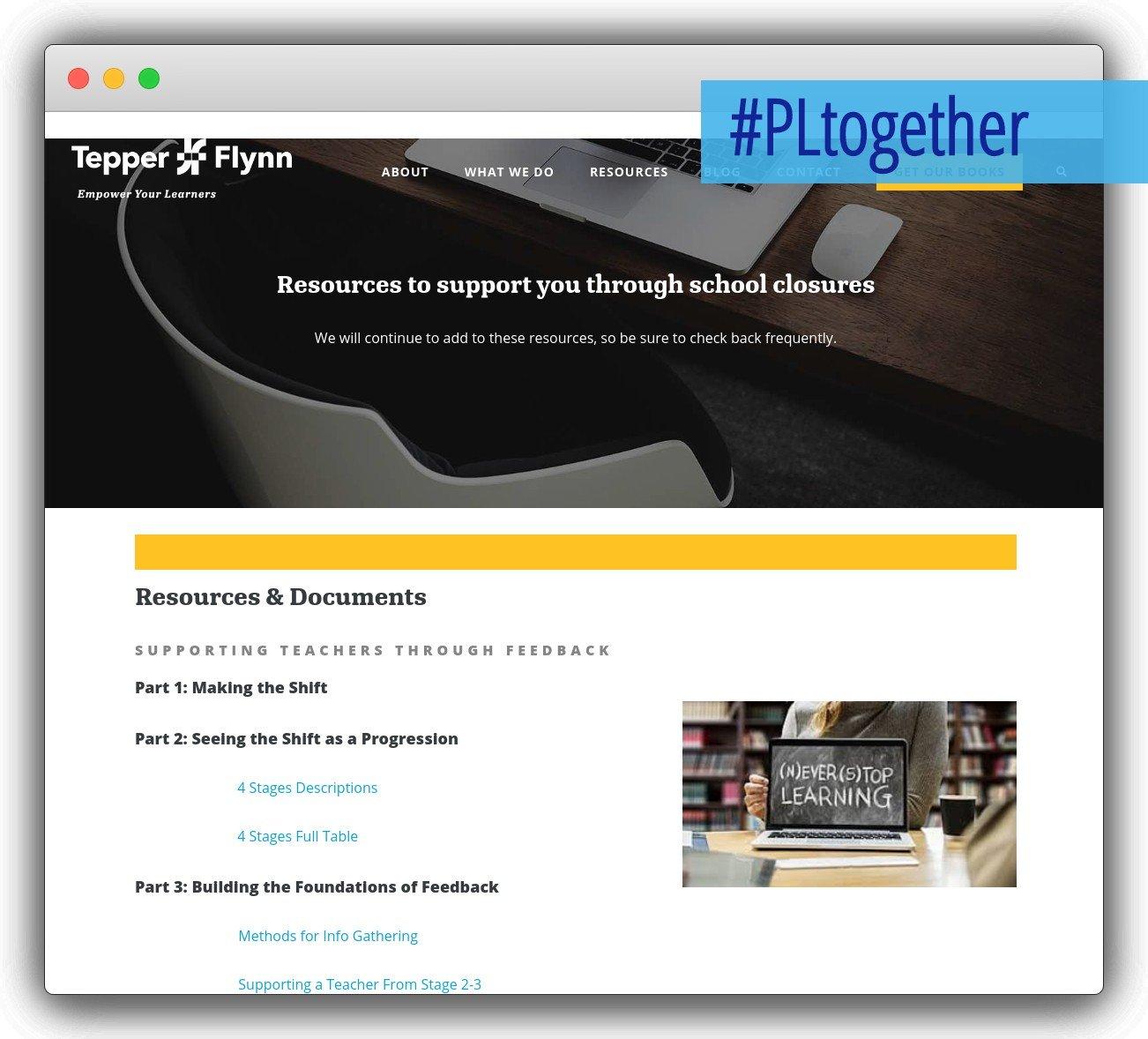 screenshot of tepper and flynn website