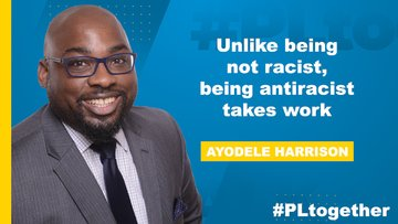 Being antiracist takes work says Ayodele Harrison