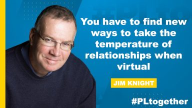 Jim Knight discusses how to build virtual relationship